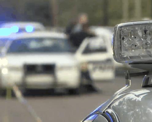 Police Cars at Police Scene